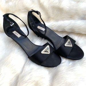 Vintage Prada black wedge heels